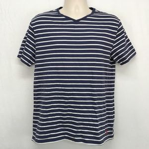 Polo Ralph Lauren Mens Medium T-Shirt V Neck Blue